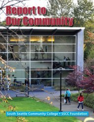 Report to Our Community - South Seattle Community College
