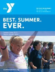 Summer Camp Brochure - South Sound YMCA