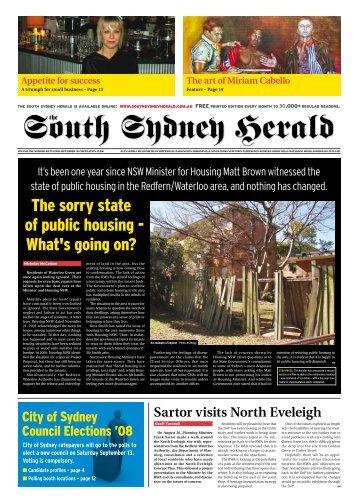 SSH – September 2008 - South Sydney Herald