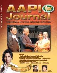 Summer 2012 - American Association of Physicians of Indian Origin