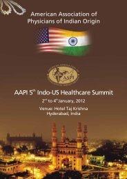 AAPI 5 Indo-US Healthcare Summit - American Association of ...