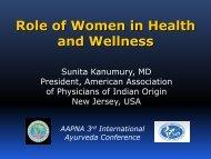 Women's Health - American Association of Physicians of Indian Origin