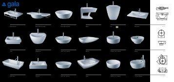 Lavabos ba o noken porcelanosa cat logo de lavabos venespa for Sanitarios gala catalogo