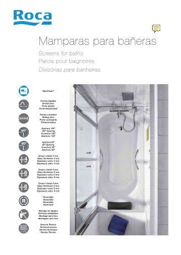 Platos de ducha y mamparas de ducha cat logo roca venespa - Mamparas para baneras roca ...