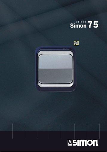Serie Simon 75, catálogo mecanismos, enchufes, llaves ... - Venespa