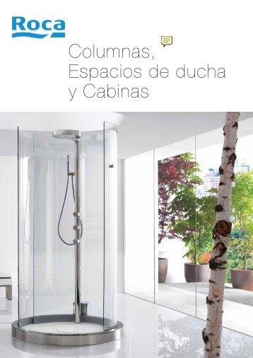 Platos de ducha y mamparas de ducha cat logo roca venespa for Columnas de ducha roca