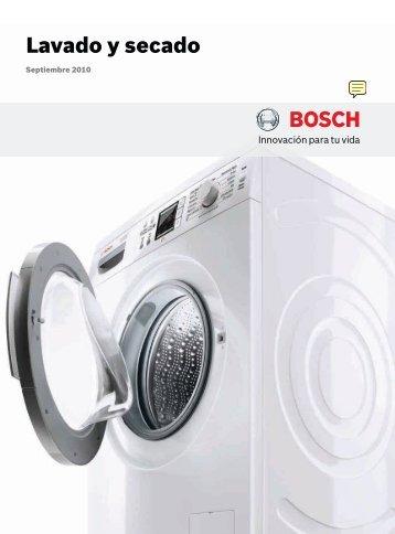 Catálogo Bosch lavado, lavadoras, secadoras ... - Venespa