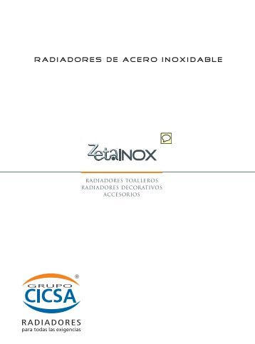 Catálogo de radiadores de acero inoxidable Cicsa ... - Venespa