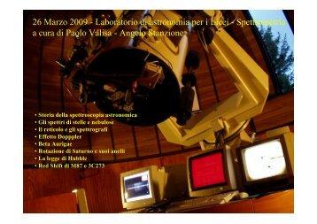 Conferenza introduttiva alle esperienze di spettroscopia (11 Mb)