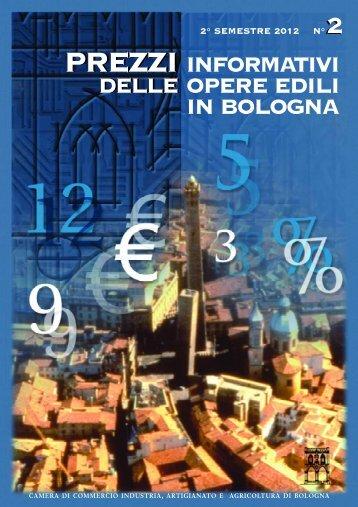 Prezzario II semestre 2012 - Camera di Commercio di Bologna