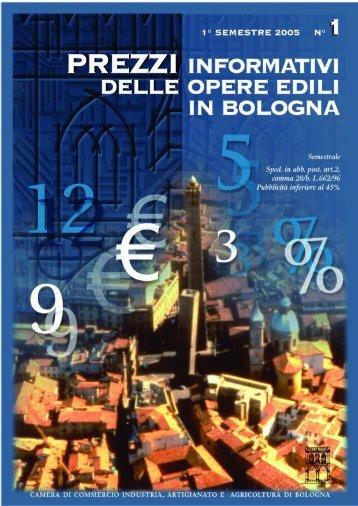 prezziario3.pdf - Camera di Commercio di Bologna