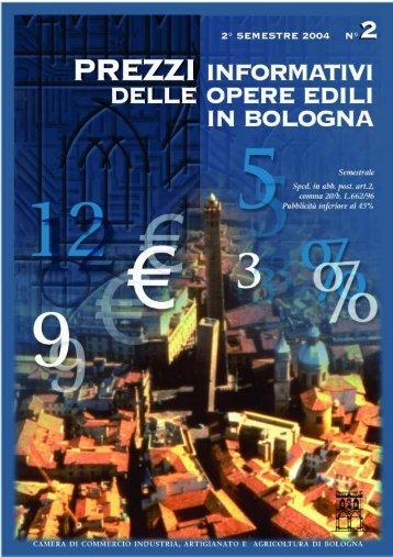 Prezzario II semestre 2004 - Camera di Commercio di Bologna