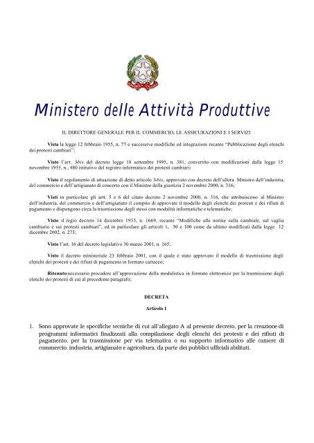 Dmprotesti Pdf Camera Di Commercio Di Bologna
