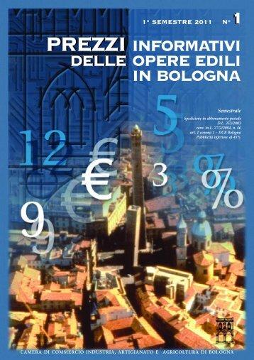Prezzario I semestre 2011 - Camera di Commercio di Bologna