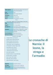 Le cronache di Narnia: il leone, la strega e l'armadio - Cineplex