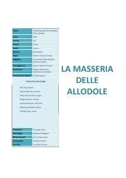LA MASSERIA DELLE ALLODOLE - Cineplex