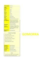 GOMORRA - Cineplex