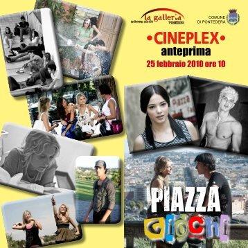 Depliant Piazza Giochi - Cineplex