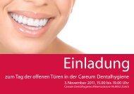 zum Tag der offenen Türen in der Careum Dentalhygiene