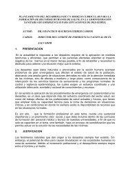 Planeamiento del Desarrollo - DISASTER info DESASTRES