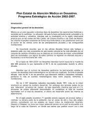 Plan de atención médicas en casos de desastre - DISASTER info ...