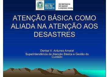ATENÇÃO BÁSICA COMO ALIADA NA ATENÇÃO AOS DESASTRES