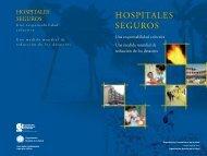 hospitales seguros hospitales seguros - DISASTER info DESASTRES
