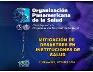MITIGACIÓN DE DESASTRES EN INSTITUCIONES DE SALUD ...