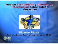 de información - DISASTER info DESASTRES