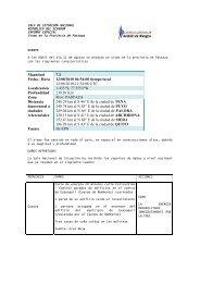 Informe Especial del Sismo - SNGR. 12 de Agosto de 2010