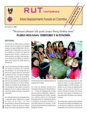 Boletín Especial RUT Informa. Estudio de Caso No. 14. Septiembre ...