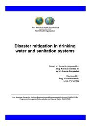 Disaster mitigation in drinking water and sanitation systems