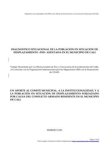 Versión completa en PDF - DISASTER info DESASTRES