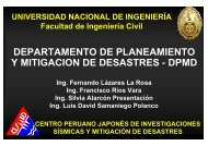 Ing. Fernando Lázares - DISASTER info DESASTRES