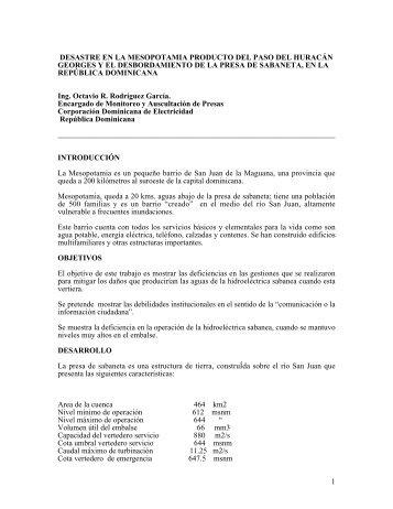 Indice 1 - DISASTER info DESASTRES