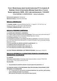 Toruń: Modernizacja stacji transformatorowej ST-5 w budynku B ...