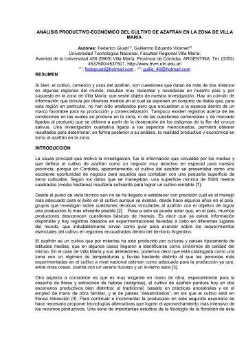 tf037: análisis productivo-económico del cultivo de azafrán en la ...