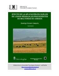 Efecto de la aplicación en suelos de lodos residuales procedentes ...