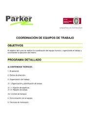 coordinación de equipos de trabajo objetivos programa ... - Emagister