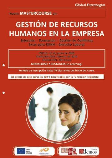GESTIÓN DE RECURSOS HUMANOS EN LA EMPRESA - Emagister