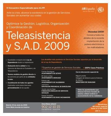 Teleasistencia y S.A.D. 2009 - Emagister