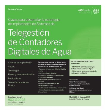 Telegestión de Contadores Digitales de Agua ... - Emagister