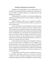 INTERCULTURALIDAD EN VENEZUELA. Definición de ... - Emagister