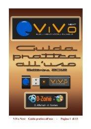 Guida italiana a ViVo Next in formato PDF - Majorana