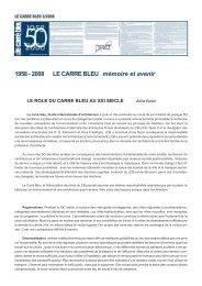 50 ans - mémoire et avenir - Le Carré Bleu