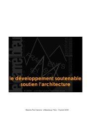 le développement soutenable soutien l'architecture - Le Carré Bleu