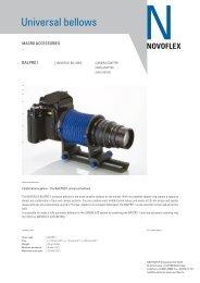 Universal bellows - Novoflex