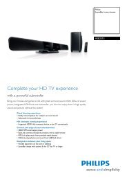 HSB2313/12 Philips SoundBar home theater - Mixi, foto in video