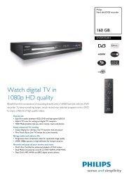 DVDR5520H/58 Philips Hard disk/DVD recorder - Mixi Foto Video