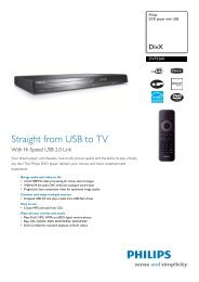 DVP3260/12 Philips DVD player with USB - Mixi, foto in video